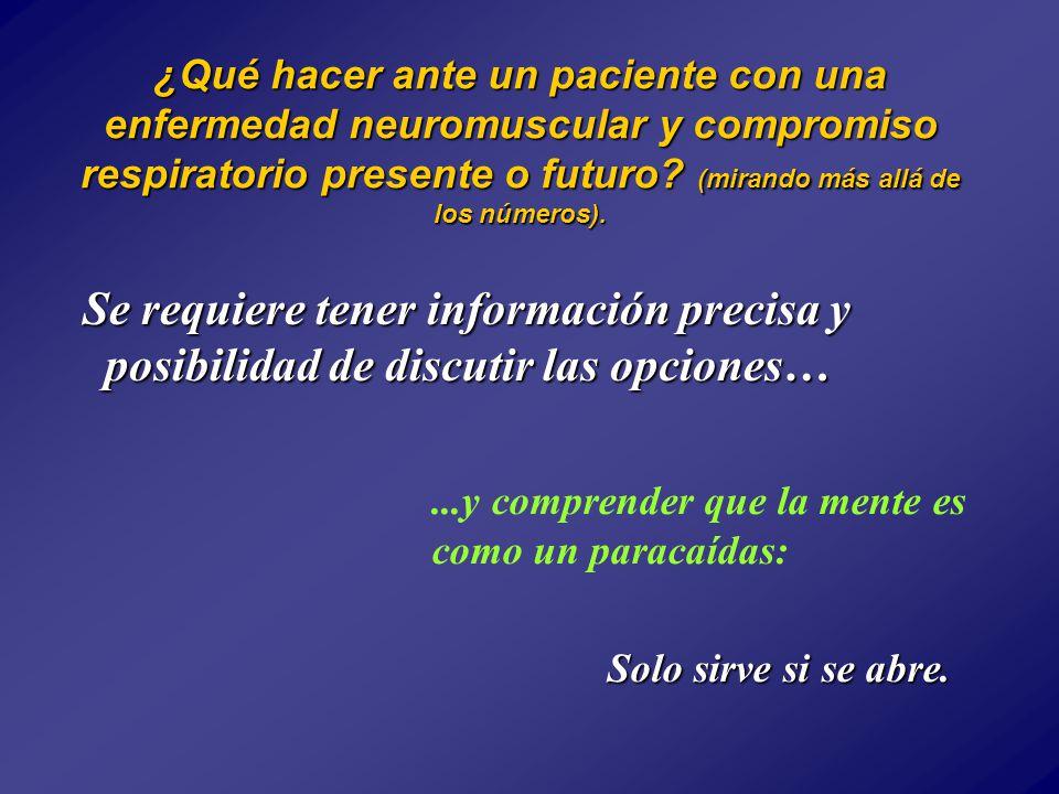 ¿Qué hacer ante un paciente con una enfermedad neuromuscular y compromiso respiratorio presente o futuro.