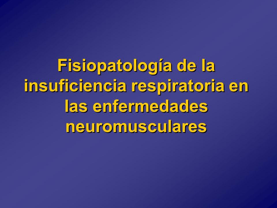Fisiopatología de la insuficiencia respiratoria en las enfermedades neuromusculares