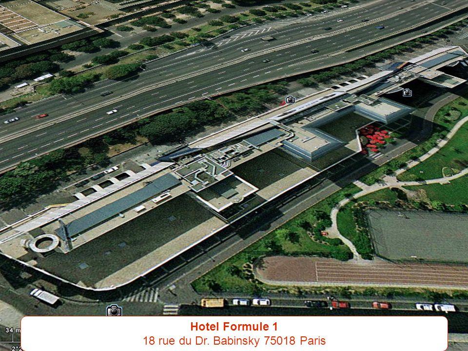 Hotel Formule 1 18 rue du Dr. Babinsky 75018 Paris