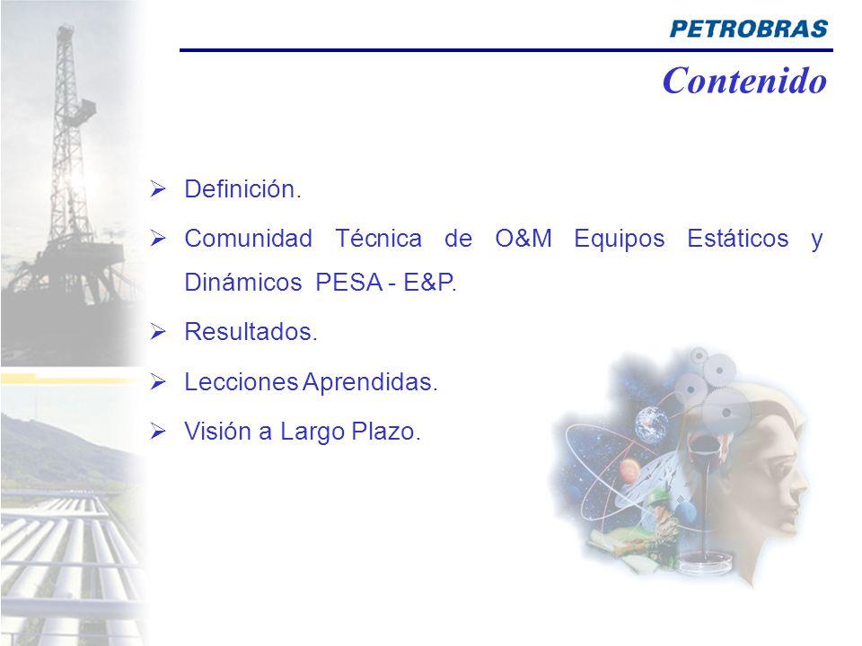 Definición.Comunidad Técnica de O&M Equipos Estáticos y Dinámicos PESA - E&P.