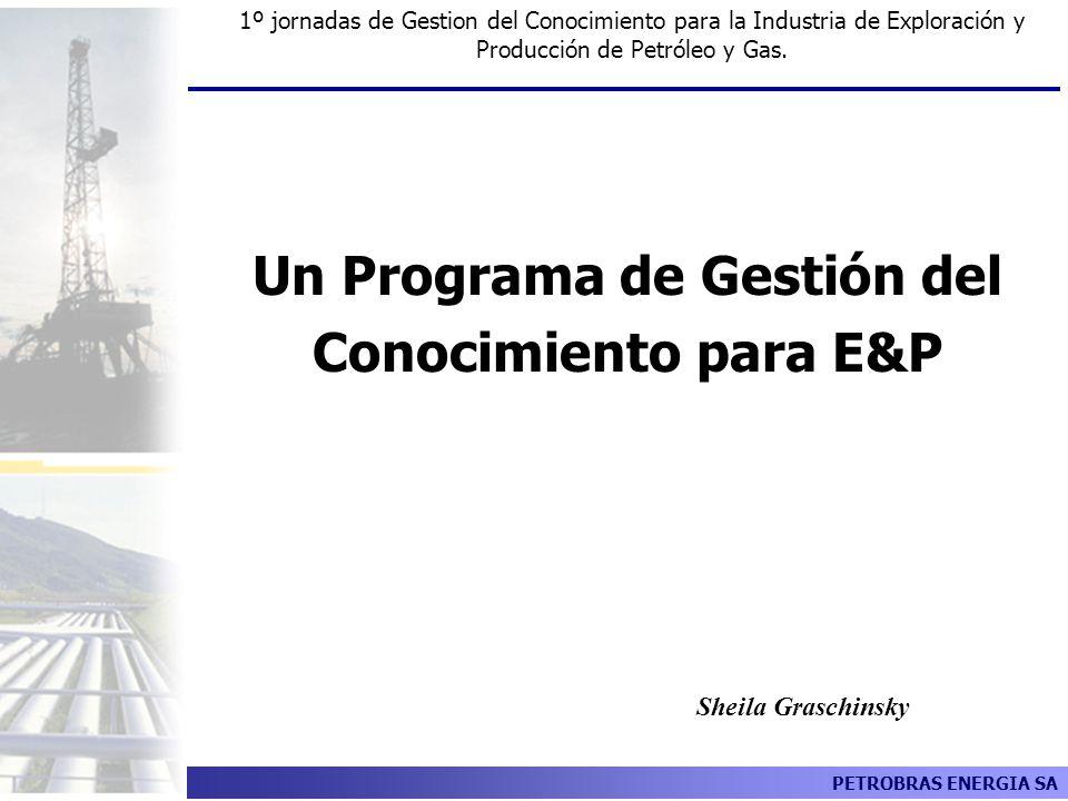 PETROBRAS ENERGIA SA Un Programa de Gestión del Conocimiento para E&P Sheila Graschinsky 1º jornadas de Gestion del Conocimiento para la Industria de