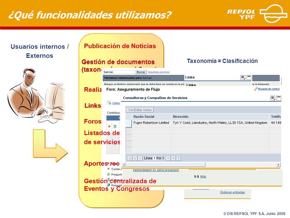 Links a sitios de interés ¿Qué funcionalidades utilizamos.