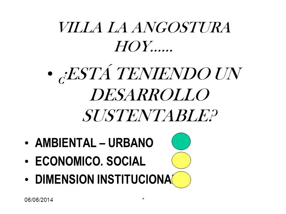 06/06/2014* VILLA LA ANGOSTURA HOY......¿ESTÁ TENIENDO UN DESARROLLO SUSTENTABLE.