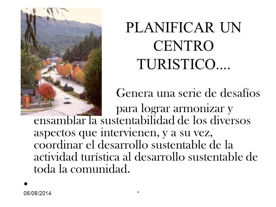 06/06/2014* PLANIFICAR UN CENTRO TURISTICO....