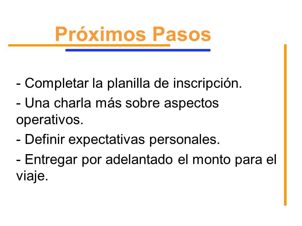 1) Participar de todas las actividades.