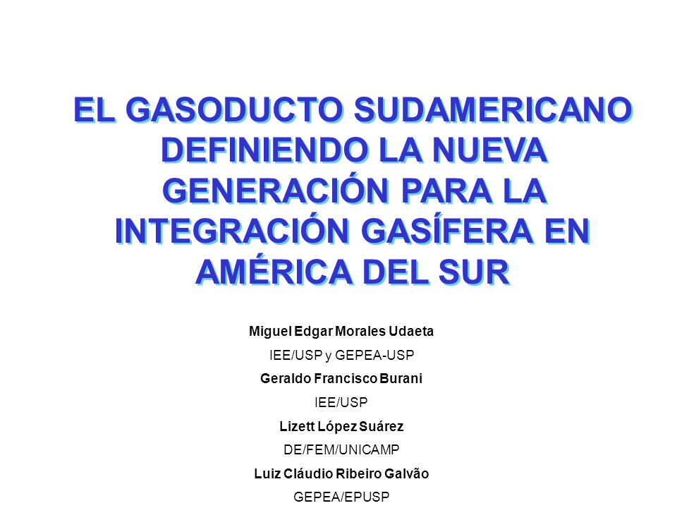 Poner en evidencia el contexto energético regional, así como el análisis del GSA y las perspectivas entorno a la integración energética de la región, apuntando barreras y proponiendo una lógica para el avance del proyecto.