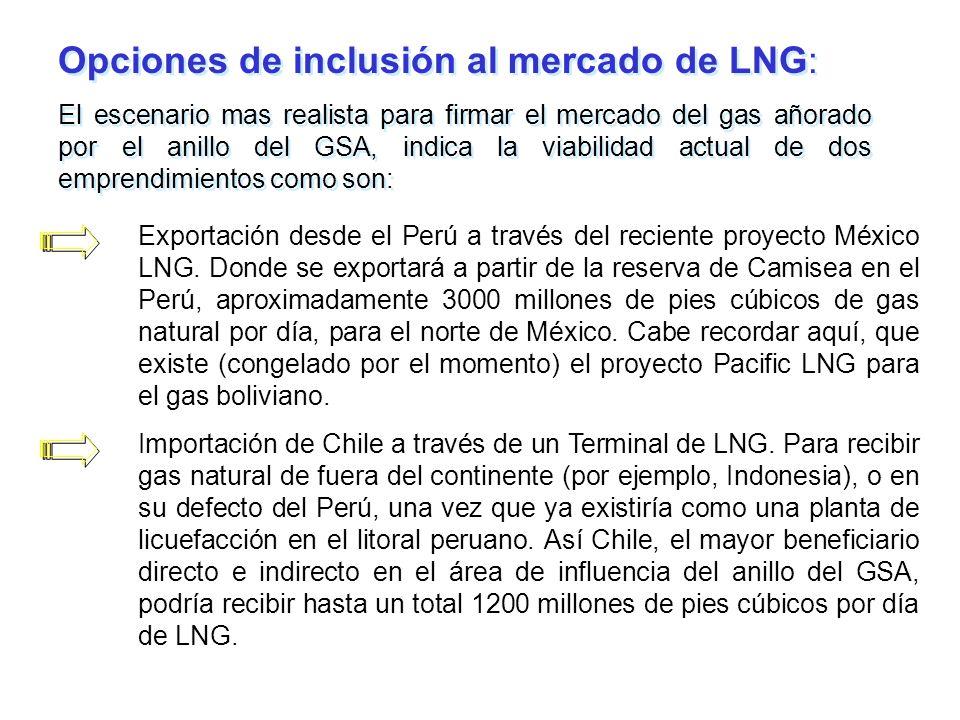 Opciones de inclusión al mercado de LNG: El escenario mas realista para firmar el mercado del gas añorado por el anillo del GSA, indica la viabilidad