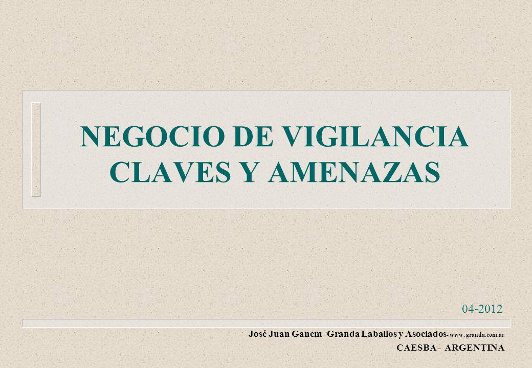 NEGOCIO DE VIGILANCIA CLAVES Y AMENAZAS José Juan Ganem- Granda Laballos y Asociados - www.