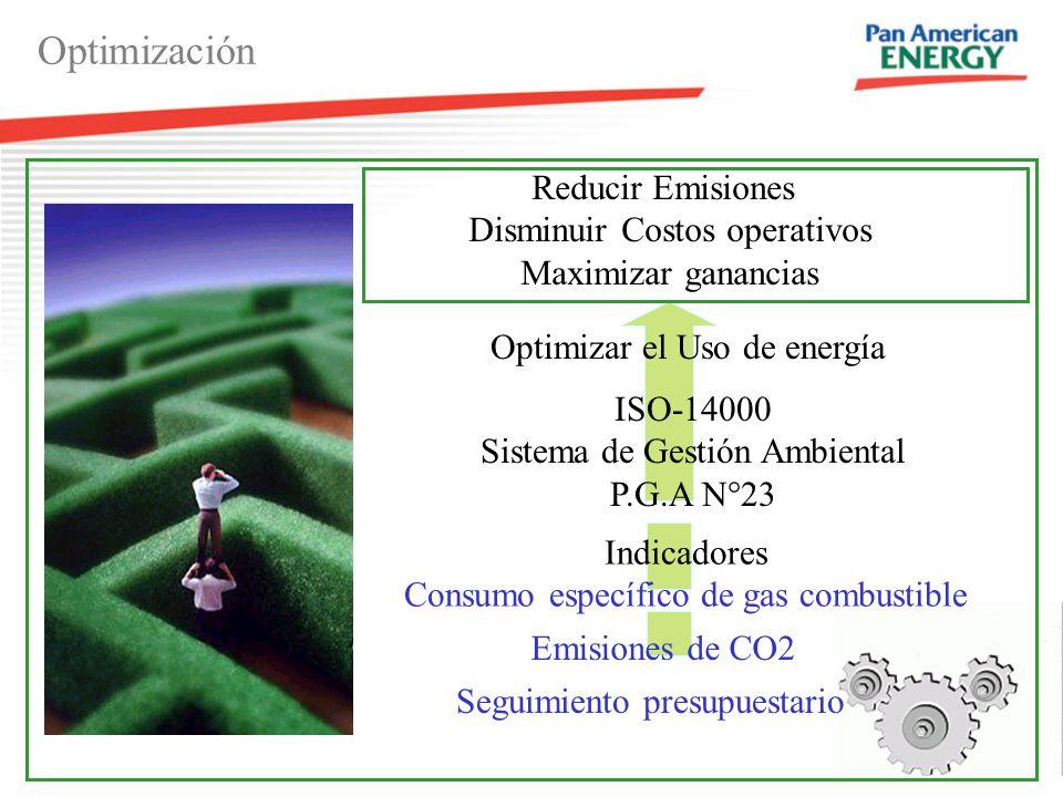 5 Optimizar el Uso de energía ISO-14000 Sistema de Gestión Ambiental P.G.A N°23 Optimización Reducir Emisiones Disminuir Costos operativos Maximizar ganancias Indicadores Consumo específico de gas combustible Emisiones de CO2 Seguimiento presupuestario