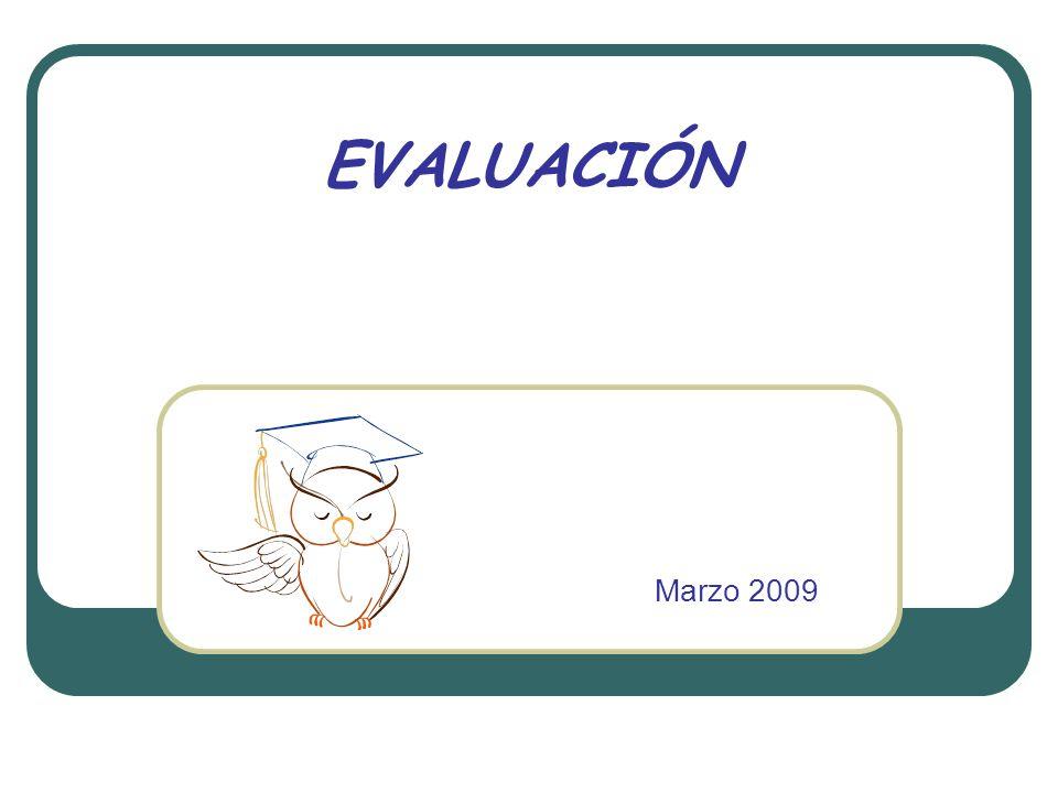 EVALUACIÓN Marzo 2009