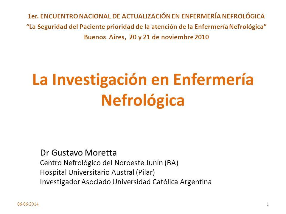 La Investigación en Enfermería Nefrológica 1er.