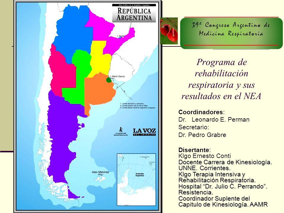 Objetivos Conocer la situación actual de la RR en el Nordeste Argentino Material y Métodos Encuesta con preguntas relacionadas directamente con el tema
