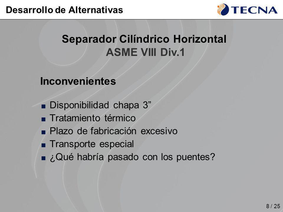 8 / 25 Inconvenientes Disponibilidad chapa 3 Tratamiento térmico Plazo de fabricación excesivo Transporte especial ¿Qué habría pasado con los puentes?