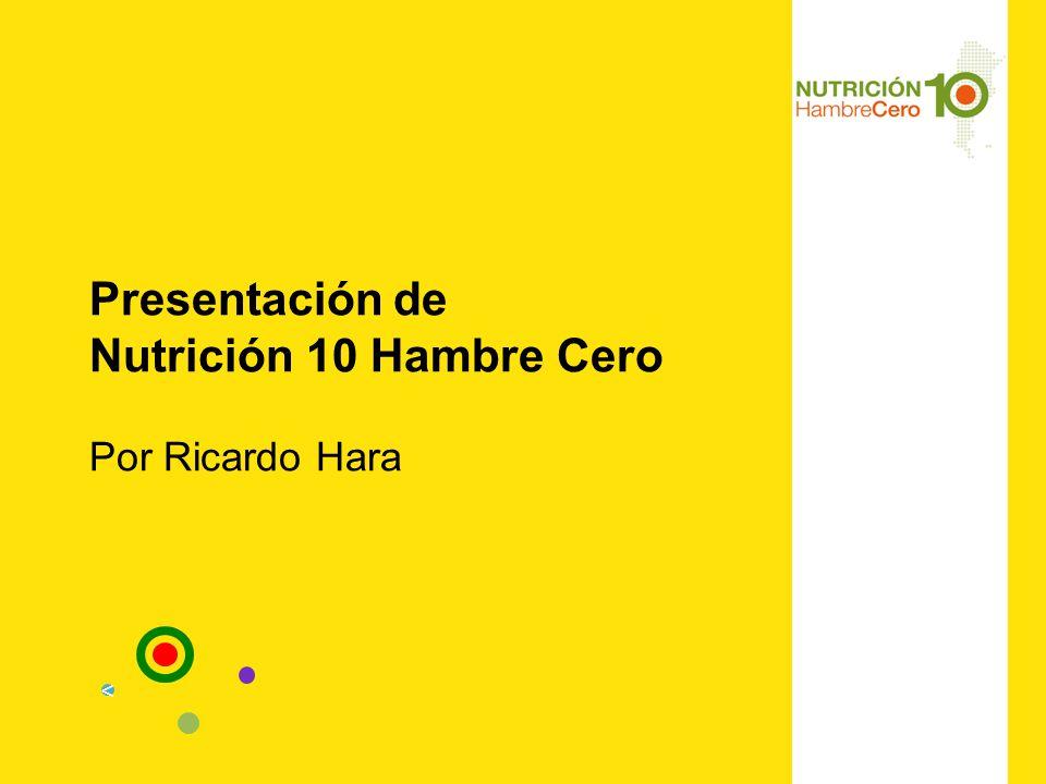 Presentación de Nutrición 10 Hambre Cero Por Ricardo Hara <