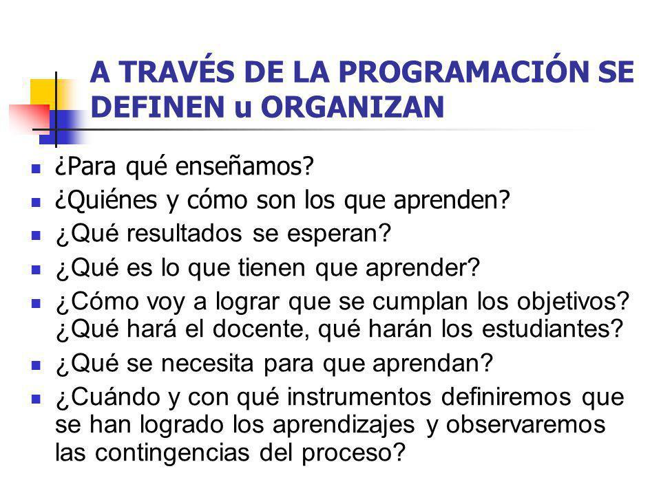 7. Evaluación de los resultados Decidir el sistema de evaluación y elaborar los instrumentos Los instrumentos, momentos o instancias de la evaluación