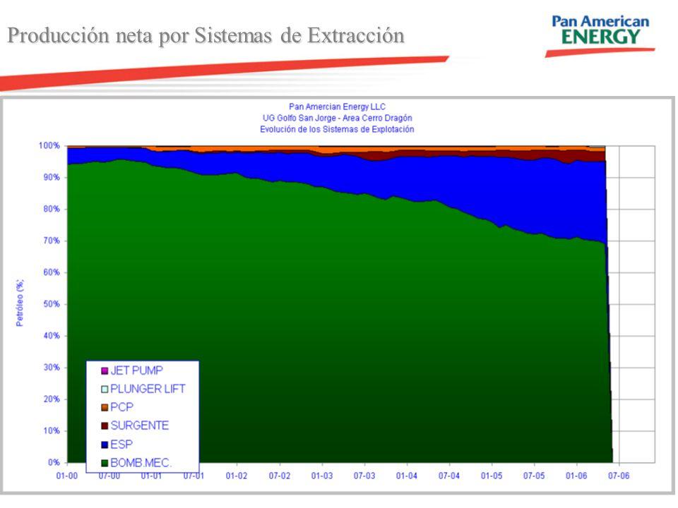 7 Producción neta por Sistemas de Extracción 68 km 87 km
