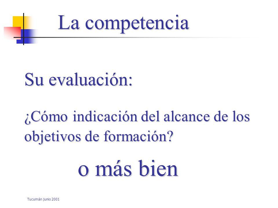 Tucumán junio 2001 Su evaluación: ¿ Como puerta de entrada al ejercicio de una profesión.