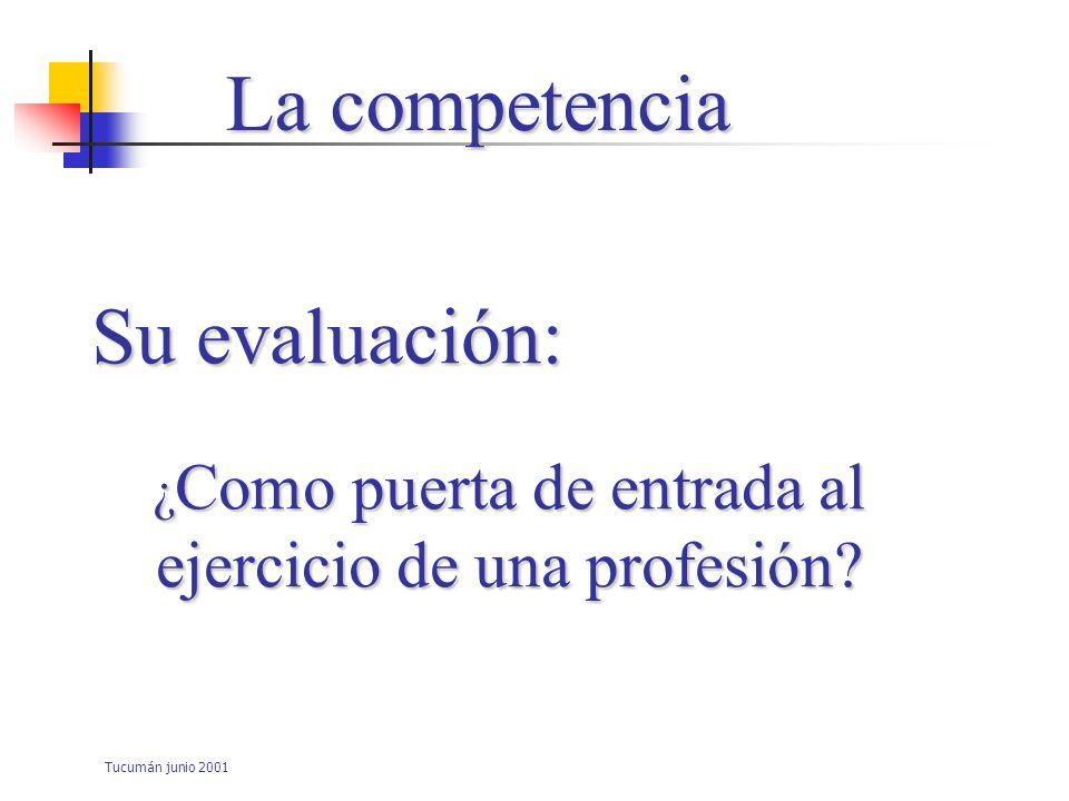Tucumán junio 2001 La evaluación: 6 preguntas básicas ¿Por qué.