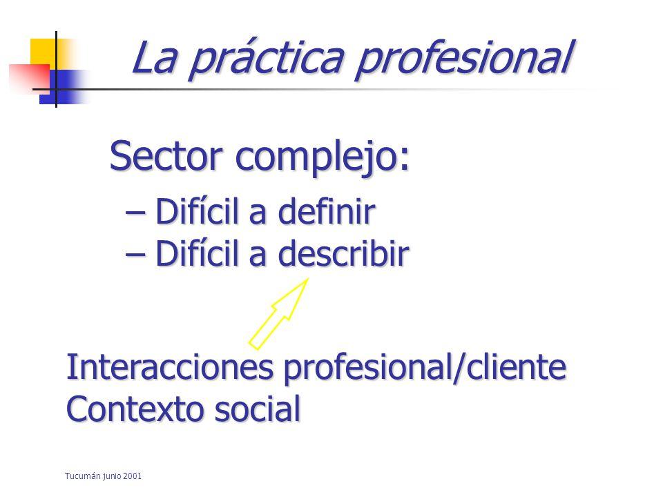 Tucumán junio 2001 Evaluación de la competencia profesional Tarea difícil y ardua A menudo muy frustrante Posible pero