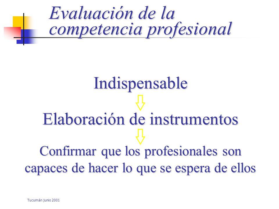 Tucumán junio 2001 Profesión Organizada alrededor de un: Corpus global de –Conocimientos –Idoneidad –Aplicaciones practicas