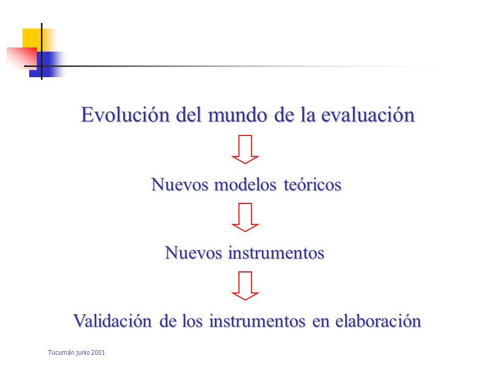 Tucumán junio 2001 La competencia: –Constructo multivariado –Constructo multidimensional