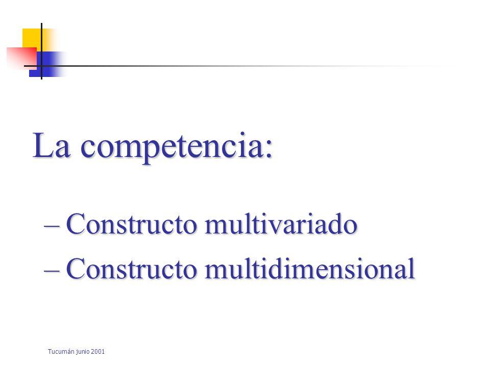 Tucumán junio 2001 La competencia: No puede medirse de manera directa