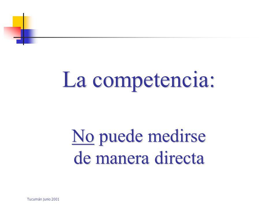 Tucumán junio 2001 La competencia clínica