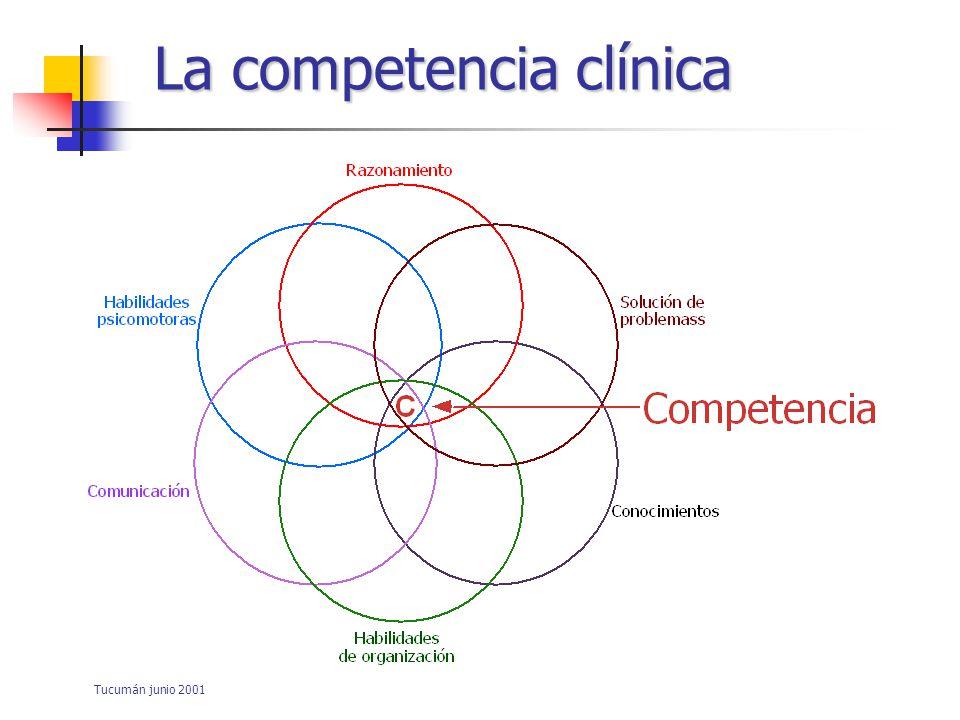 Tucumán junio 2001 La competencia profesional De acuerdo a P.