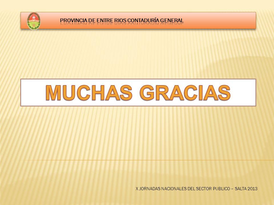 X JORNADAS NACIONALES DEL SECTOR PUBLICO – SALTA 2013