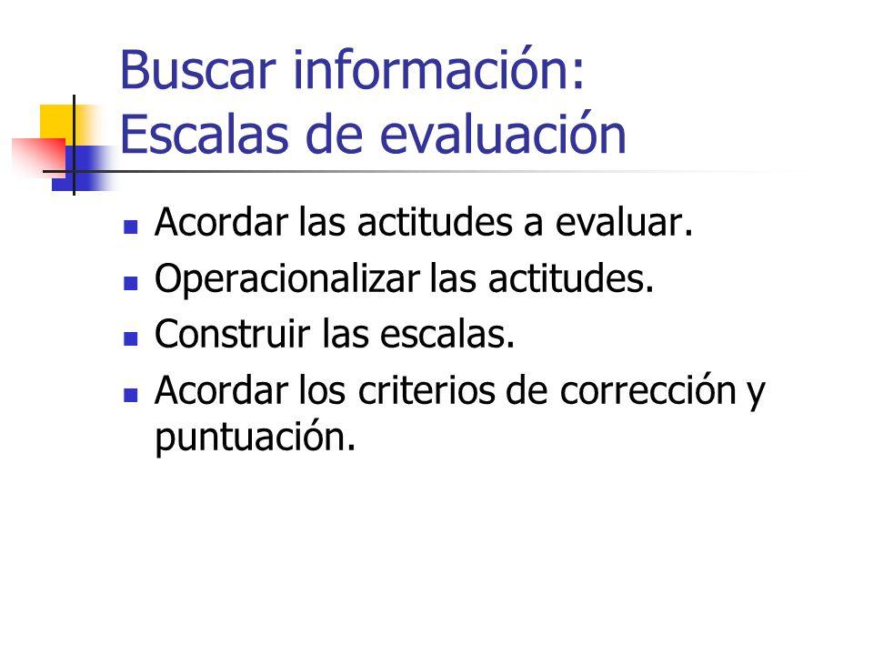 Buscar información: Listas de control o cotejo Definir los resultados de aprendizaje de destrezas a evaluar.
