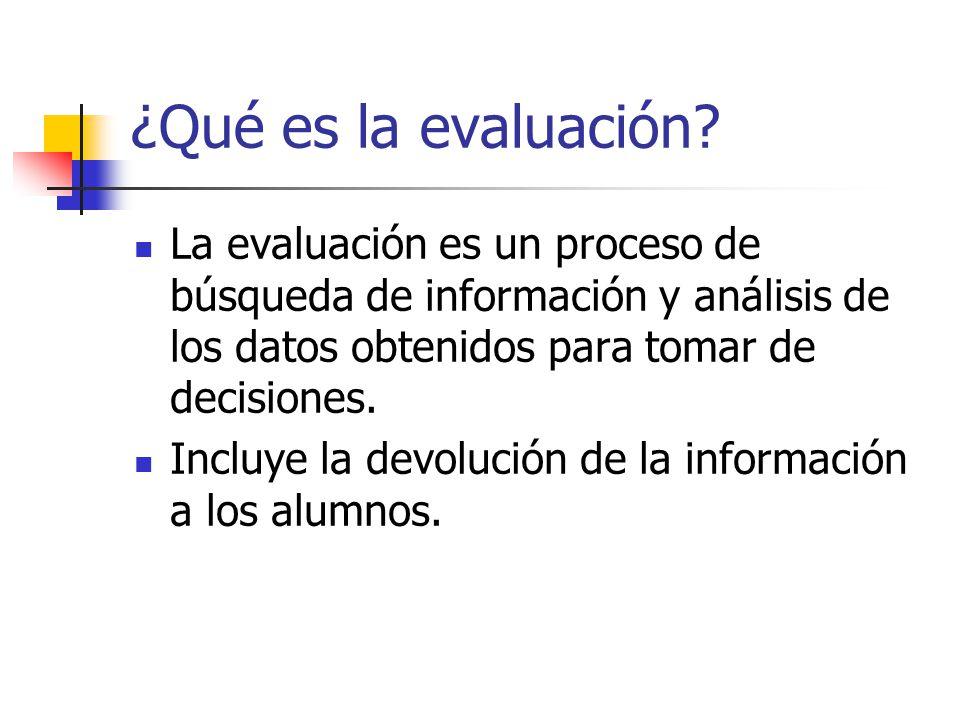 ¿Qué es la evaluación.