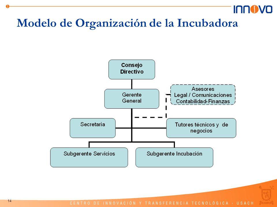 14 Modelo de Organización de la Incubadora