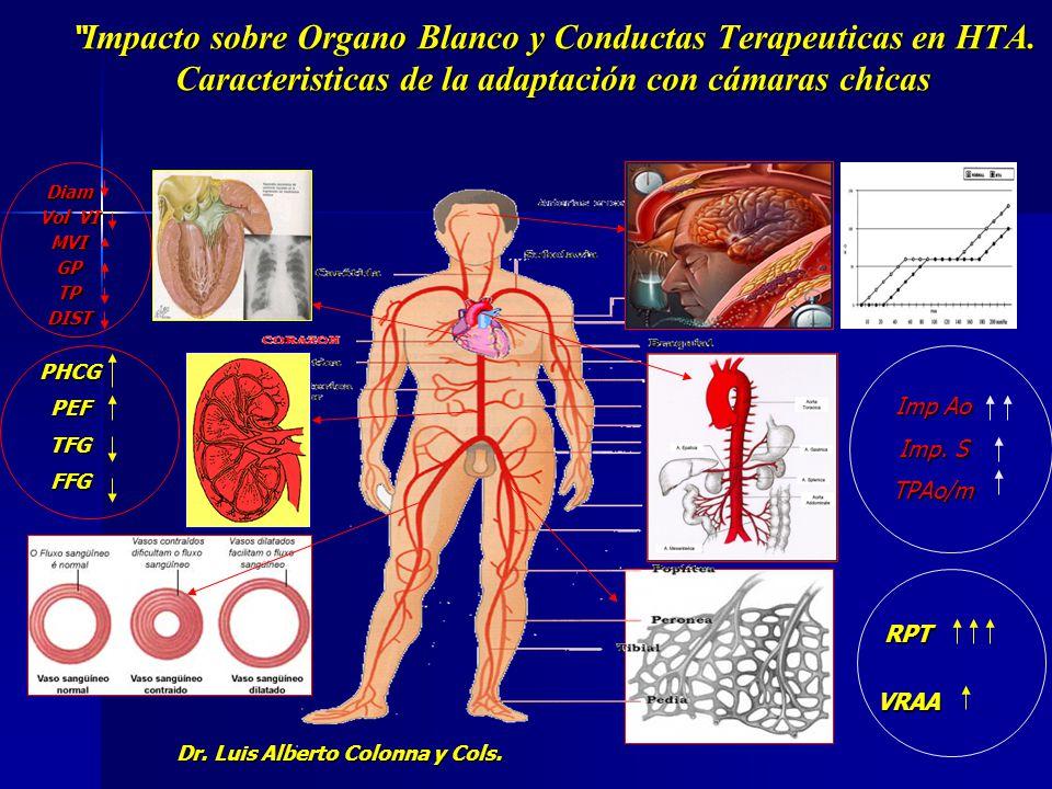 Impacto sobre Organo Blanco y Conductas Terapeuticas en HTA. Caracteristicas de la adaptación con cámaras chicas. Impacto sobre Organo Blanco y Conduc