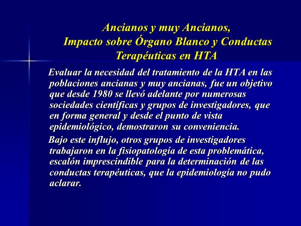 Ancianos y muy Ancianos Impacto sobre Organo Blanco y Conductas Terapéuticas en HTA Prof. Dr. Luis Alberto Colonna