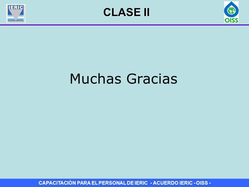 CAPACITACIÓN PARA EL PERSONAL DE IERIC - ACUERDO IERIC - OISS - CLASE II Muchas Gracias