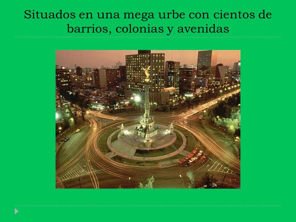 Situados en una mega urbe con cientos de barrios, colonias y avenidas