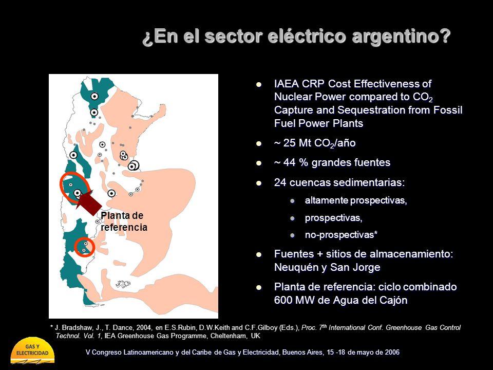 V Congreso Latinoamericano y del Caribe de Gas y Electricidad, Buenos Aires, 15 -18 de mayo de 2006 ¿En el sector eléctrico argentino? IAEA CRP Cost E