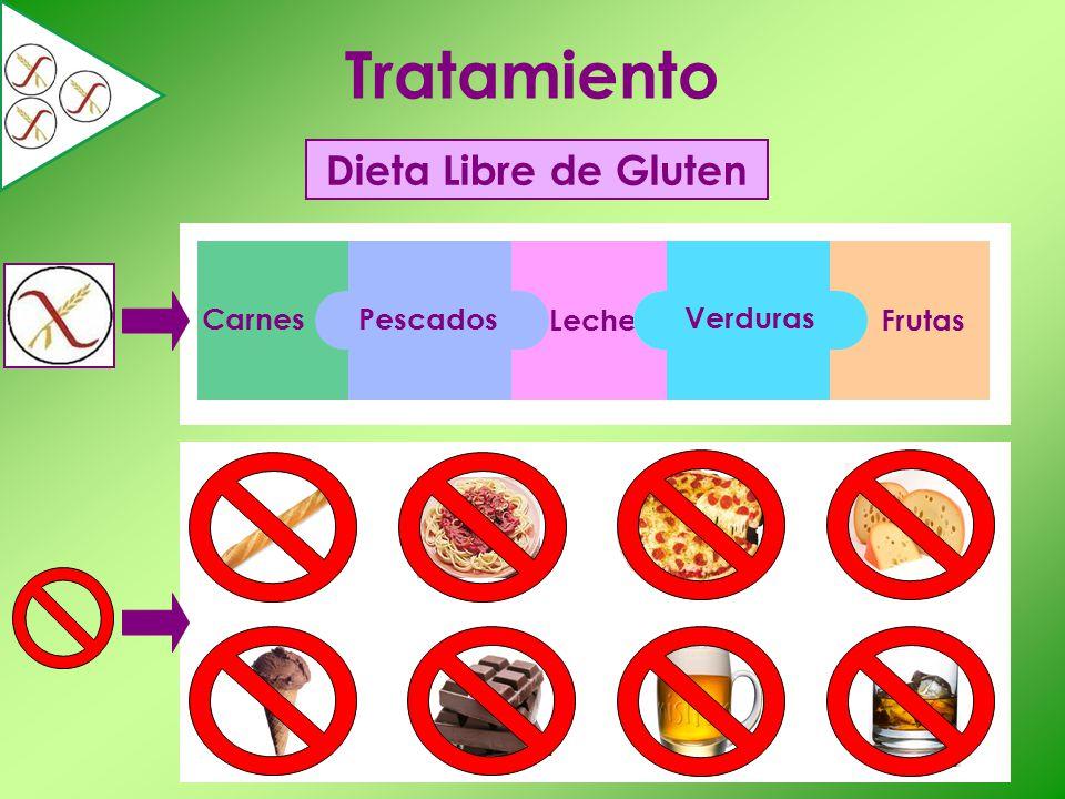 Frutas Tratamiento Dieta Libre de Gluten Leche Carnes Pescados Verduras