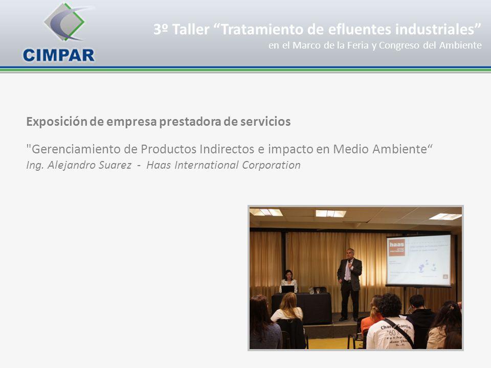 Exposición de empresa prestadora de servicios