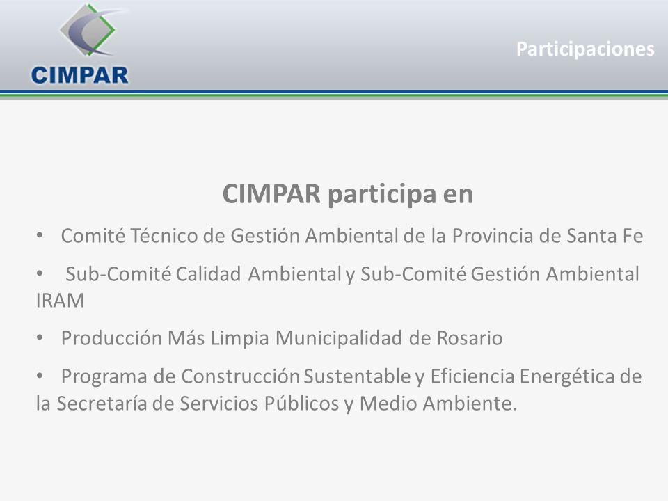 CIMPAR participa en Comité Técnico de Gestión Ambiental de la Provincia de Santa Fe Sub-Comité Calidad Ambiental y Sub-Comité Gestión Ambiental IRAM P