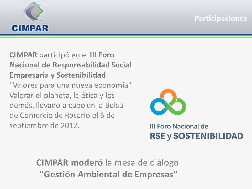 CIMPAR participó en el III Foro Nacional de Responsabilidad Social Empresaria y Sostenibilidad