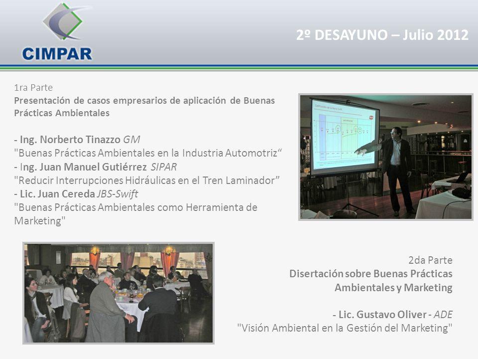 1ra Parte Presentación de casos empresarios de aplicación de Buenas Prácticas Ambientales - Ing. Norberto Tinazzo GM