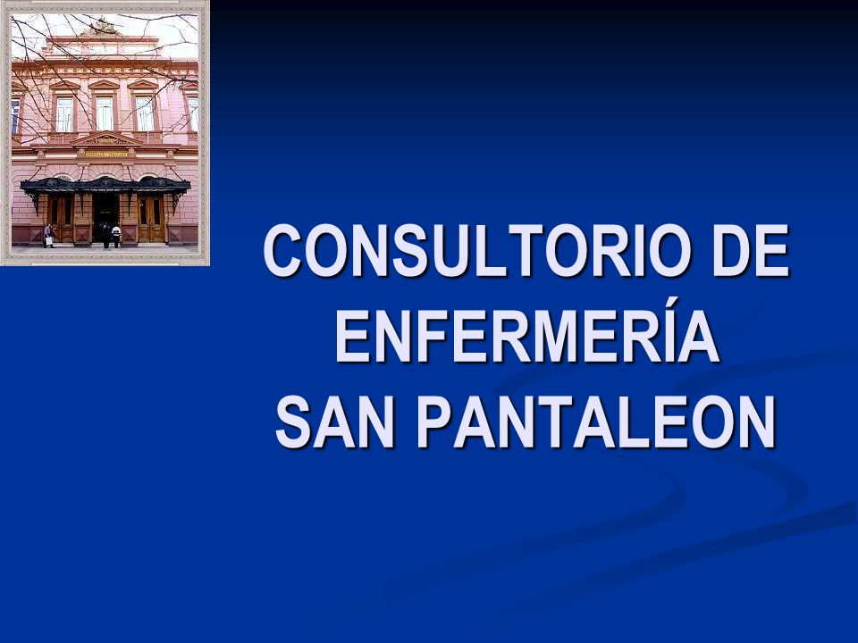 CONSULTORIO DE ENFERMERÍA SAN PANTALEON