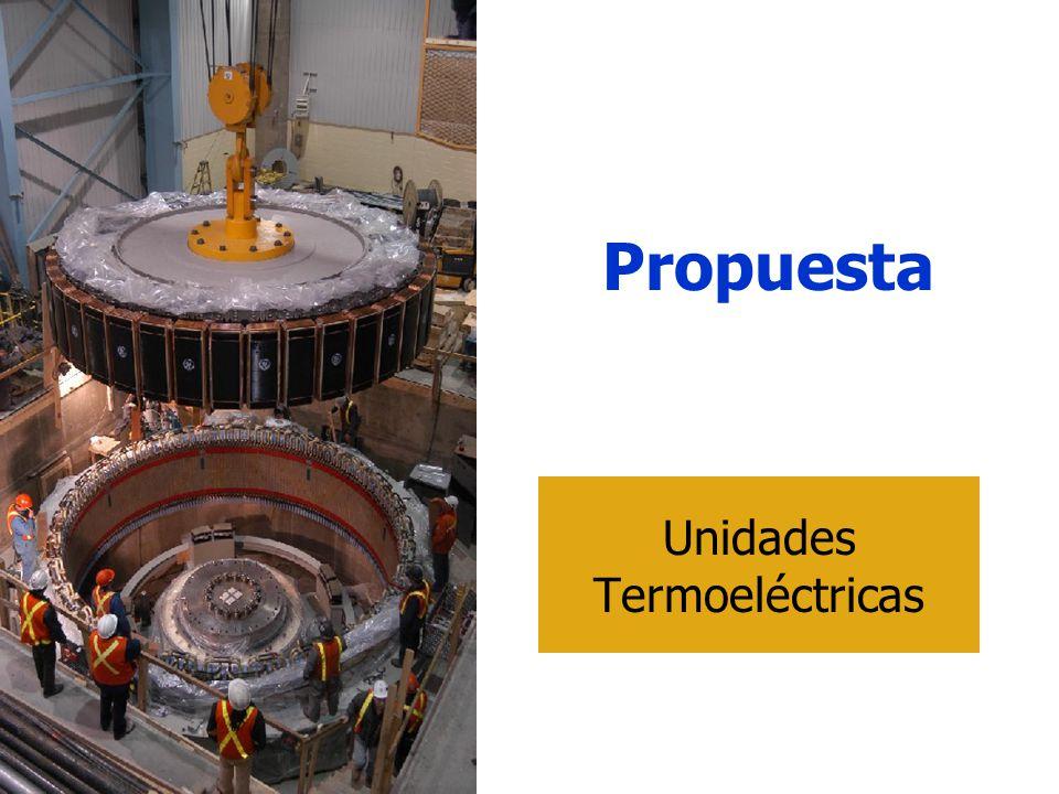 Propuesta Unidades Termoeléctricas