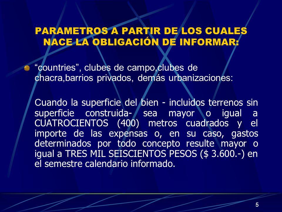 16 CARACTERISTICAS, FUNCIONES Y ASPECTOS TECNICOS La utilización del sistema AFIP DGI - REGIMEN INFORMATIVO DE PAGO DE EXPENSAS - Versión 1.0 S.I.Ap.