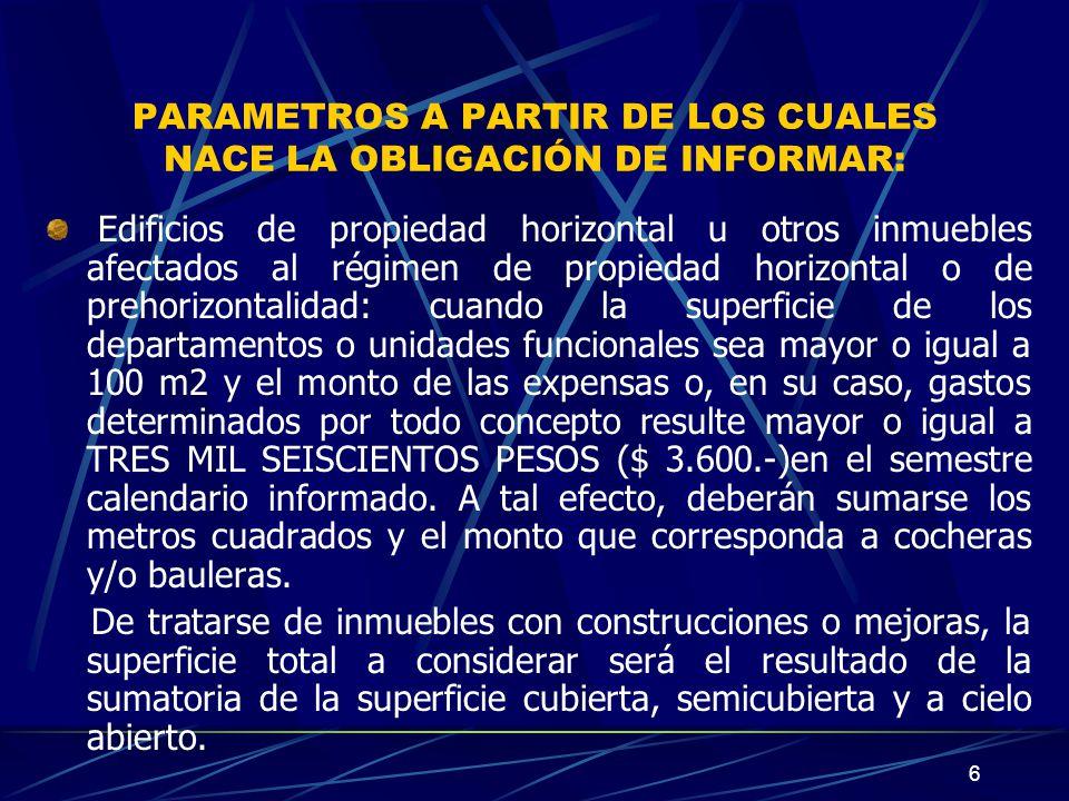 17 CARACTERISTICAS, FUNCIONES Y ASPECTOS TECNICOS (cont.) 1.
