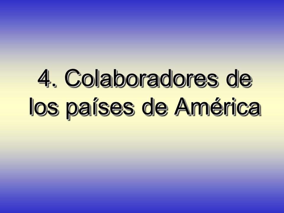 4. Colaboradores de los países de América