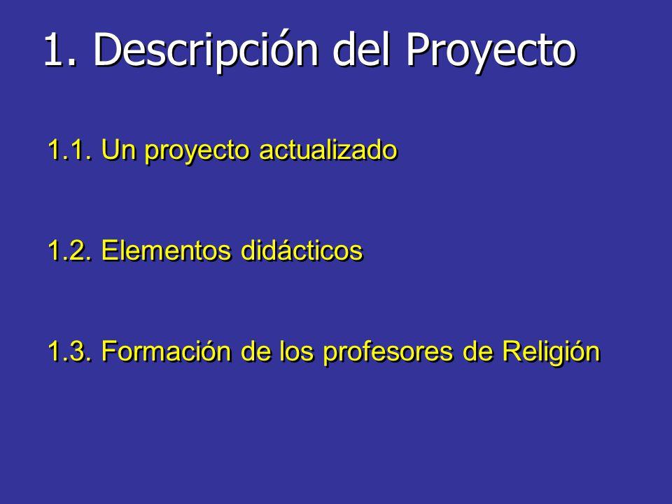 1.Descripción del Proyecto 1.1. Un proyecto actualizado 1.2.