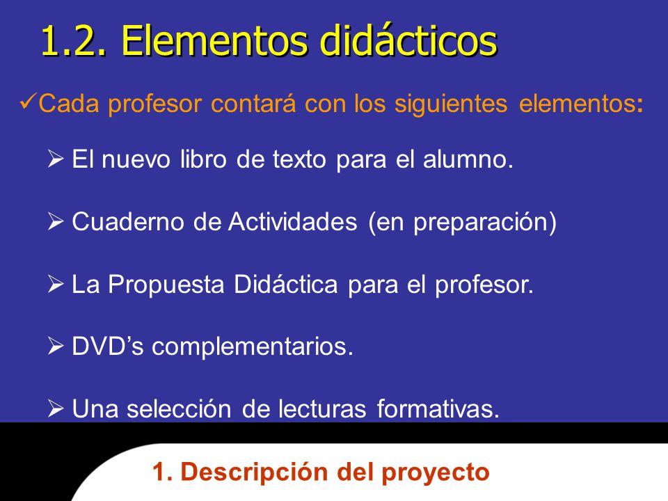 1.2.Elementos didácticos 1.