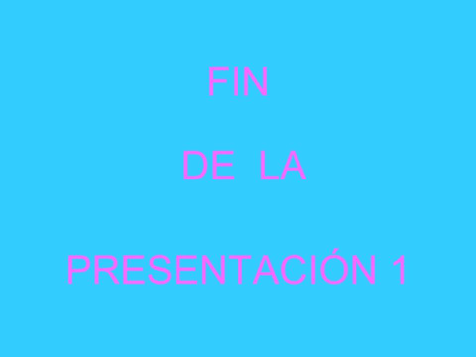 FIN DE LA PRESENTACIÓN 1